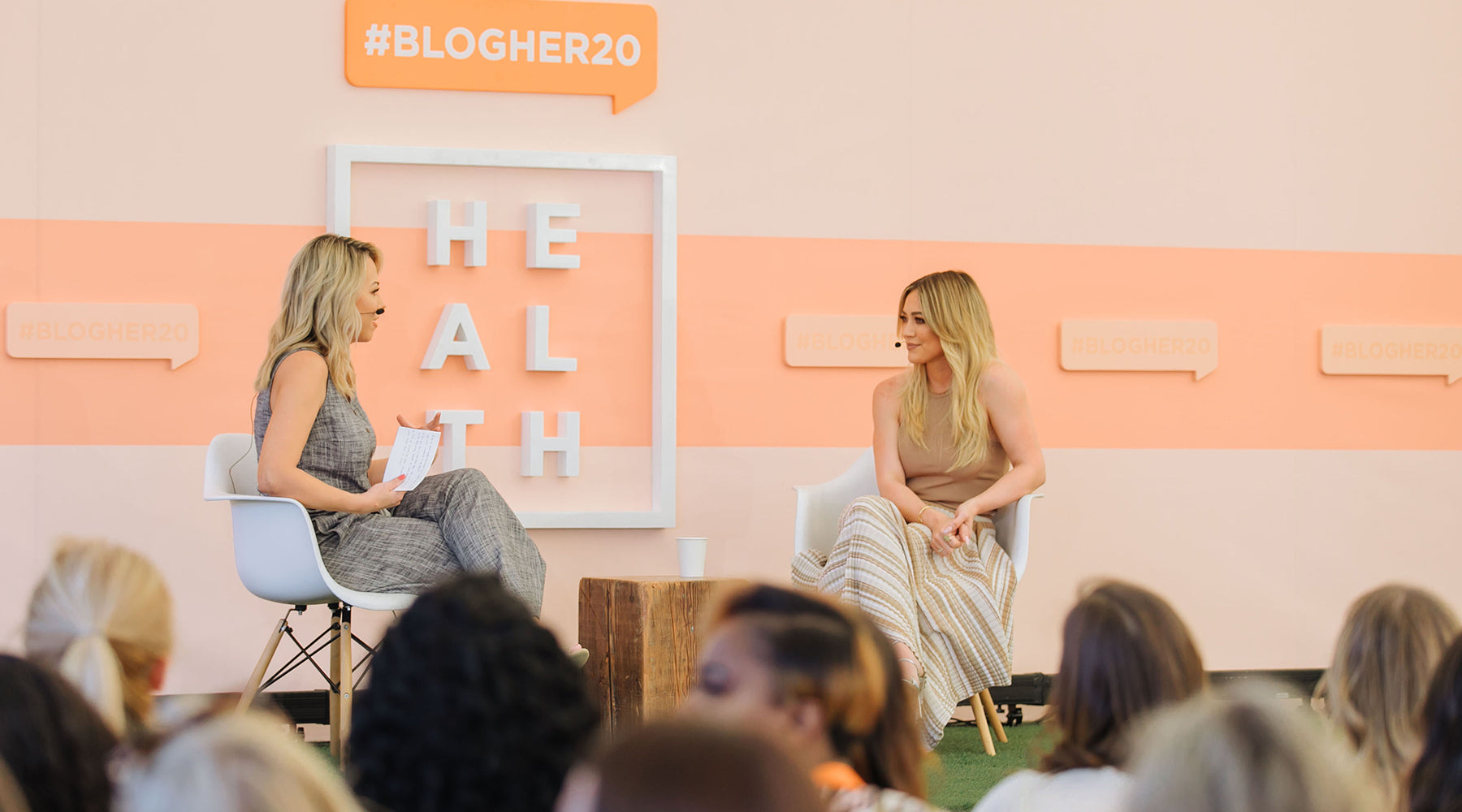 HILARY DUFF INSPIRES AT #BLOGHER HEALTH 20