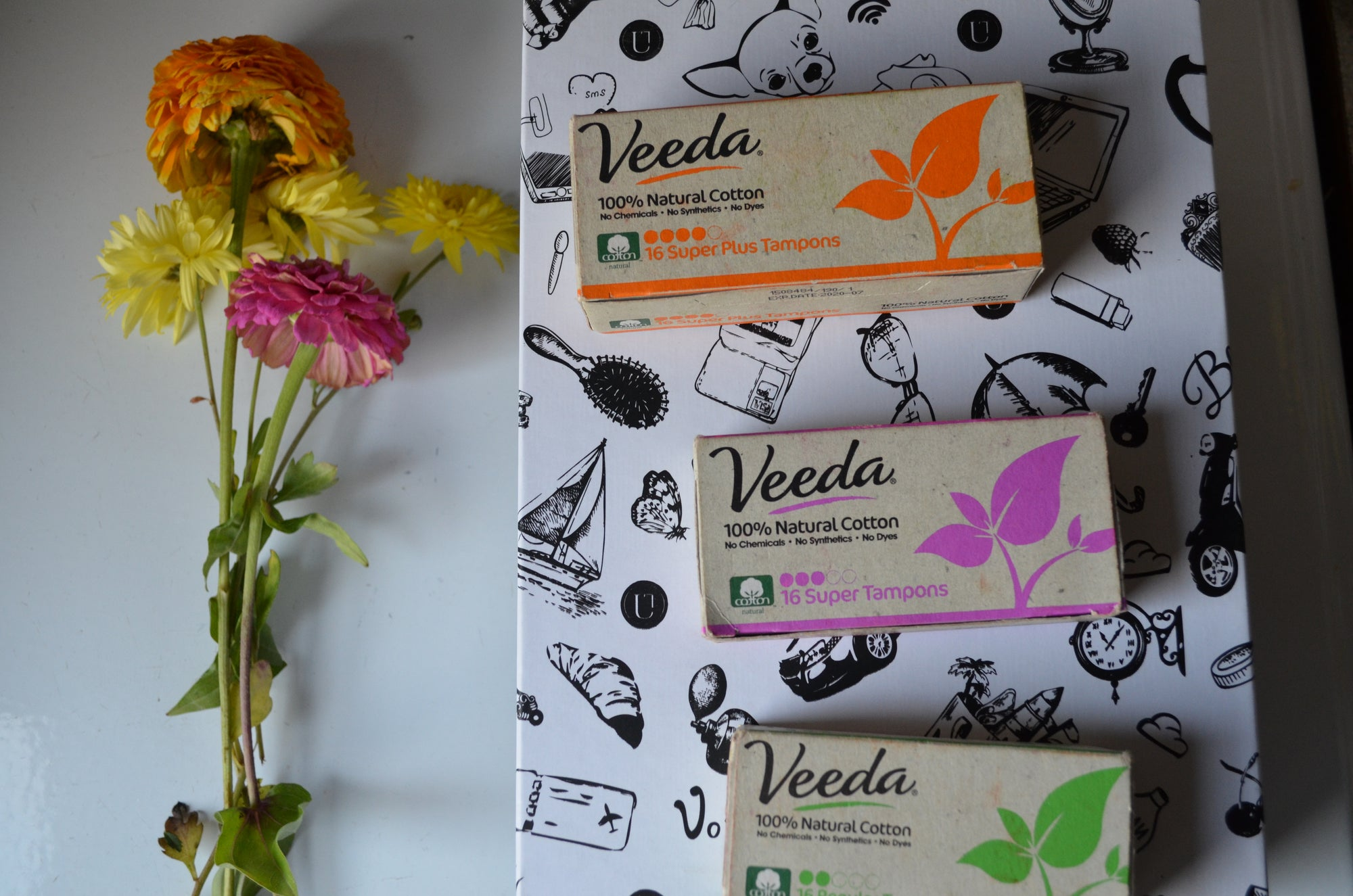 Veeda 100% natural cotton tampon & Pads Review!