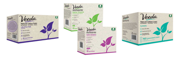 Veeda Natural Fem Care Tampons, Pads, and Liners now available at Costco