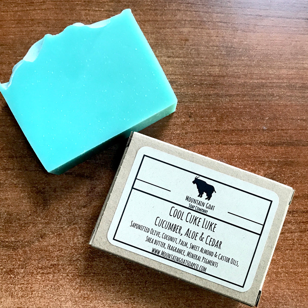 Cool Cuke Luke (Cucumber, Aloe & Cedar) - Mountain Goat Soap Co.