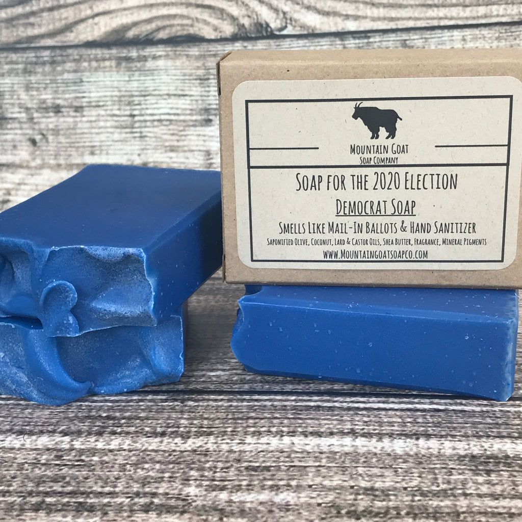 Democrat Soap (Smells Like Mail-In Ballots & Hand Sanitizer) - Mountain Goat Soap Co.