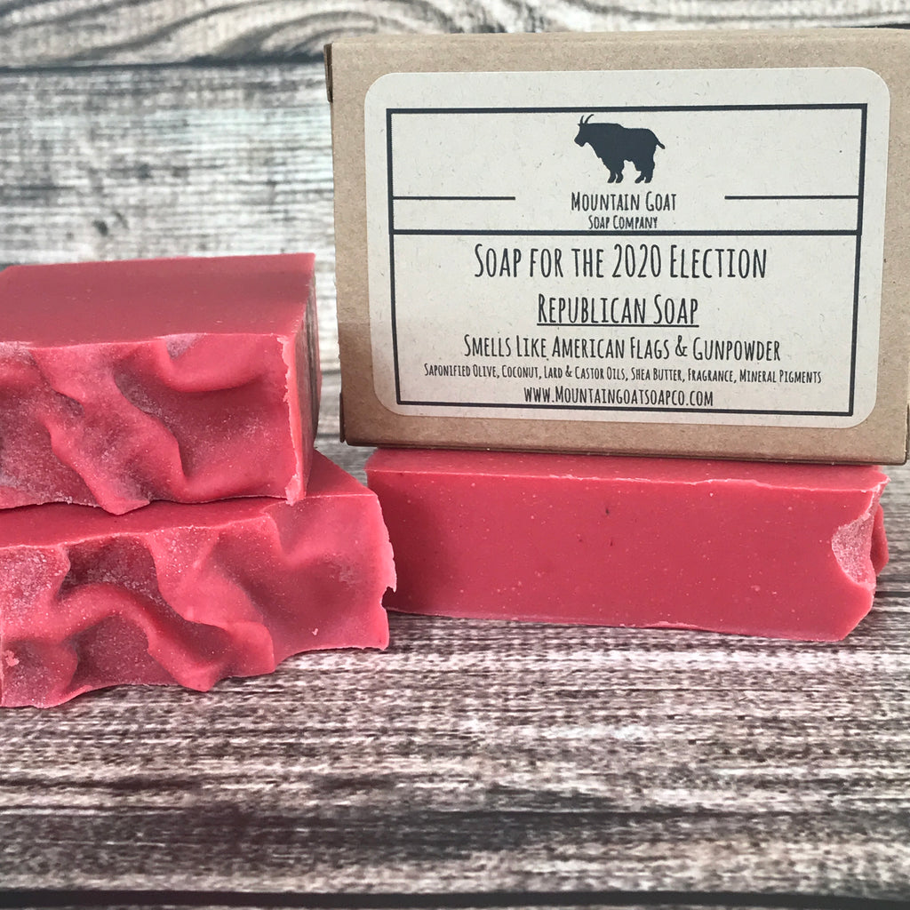 Republican Soap (Smells Like American Flags & Gunpowder) - Mountain Goat Soap Co.