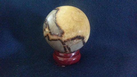 Septarian Dragon Stone Crystal Sphere