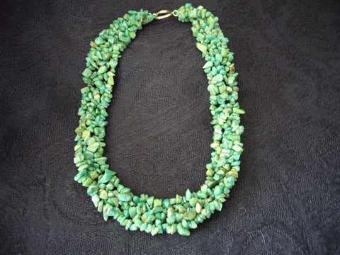 Natural Amazonite Chipped Stone Necklace