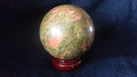 Natural Unakite Jasper Crystal Sphere