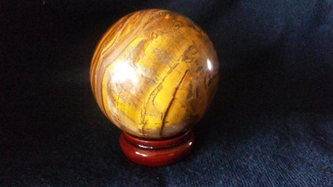 Natural Tiger Eye Crystal Sphere