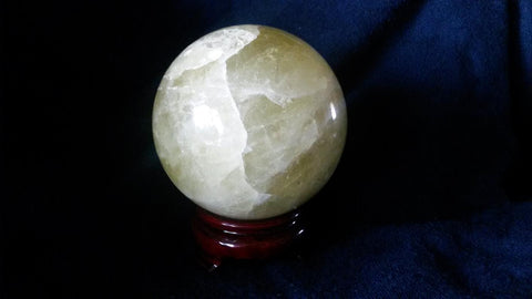 Natural Citrine Crystal Sphere