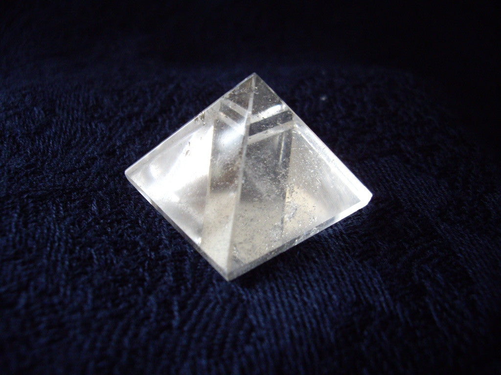 Natural Clear Quartz Crystal Pyramid