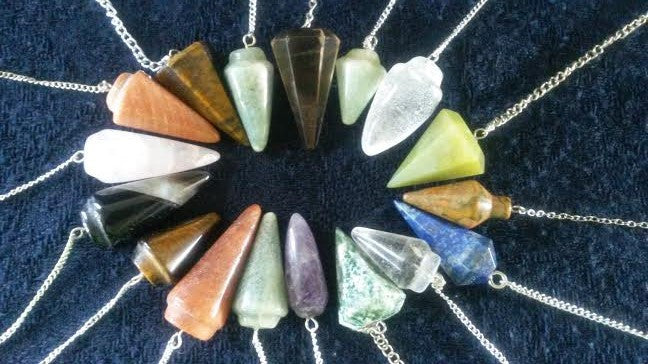 Natural Crystal Dowsing Pendulum Of Our Choice