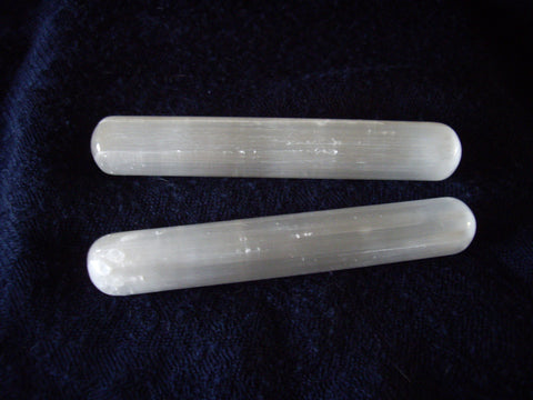 Polished Blunt Selenite Massage or Healing Wand