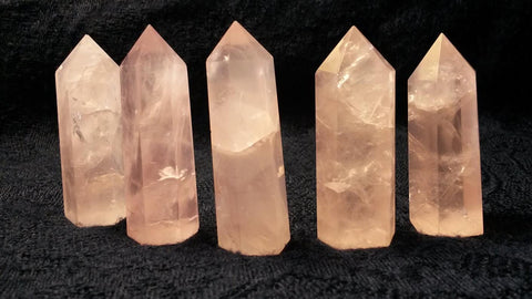 Ethereal Rose Quartz Crystal Standing Point