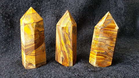Rainbow Tiger Eye Crystal Standing Point