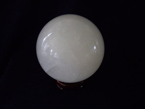 White Calcite Sphere