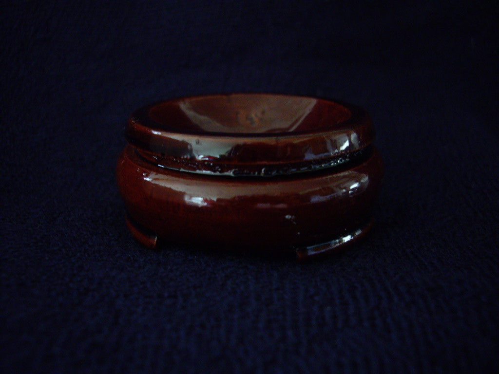 Lacquered 2 inch Wooden Sphere Base or Stand