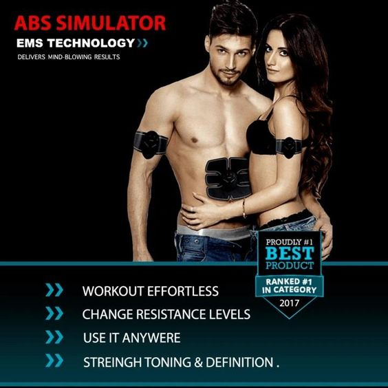 AB STIMULATOR -EMS Abdominal Toning Belt for Men & Women