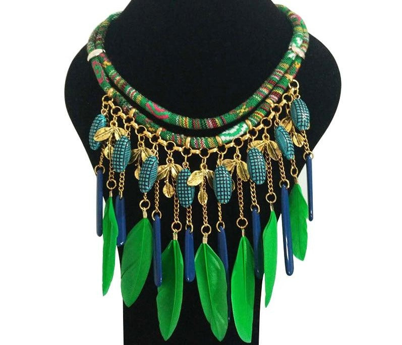 Green Goddess Bohemian Necklace