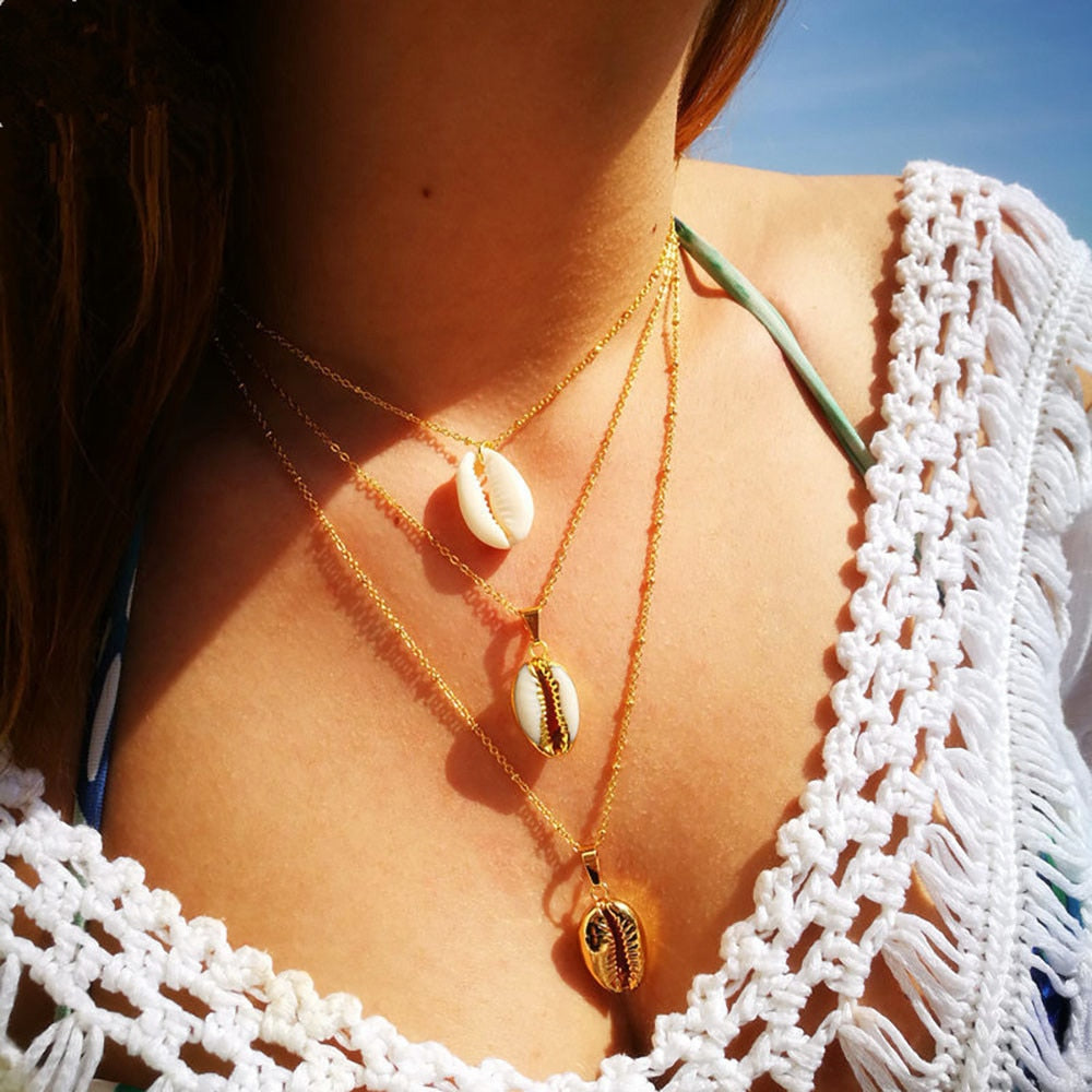 Shell Goddess Multilayer Necklace