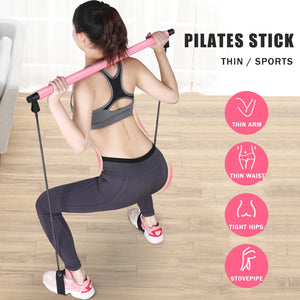 Pilates Bar Lightweight Resistance Band Toning Bar Home Gym