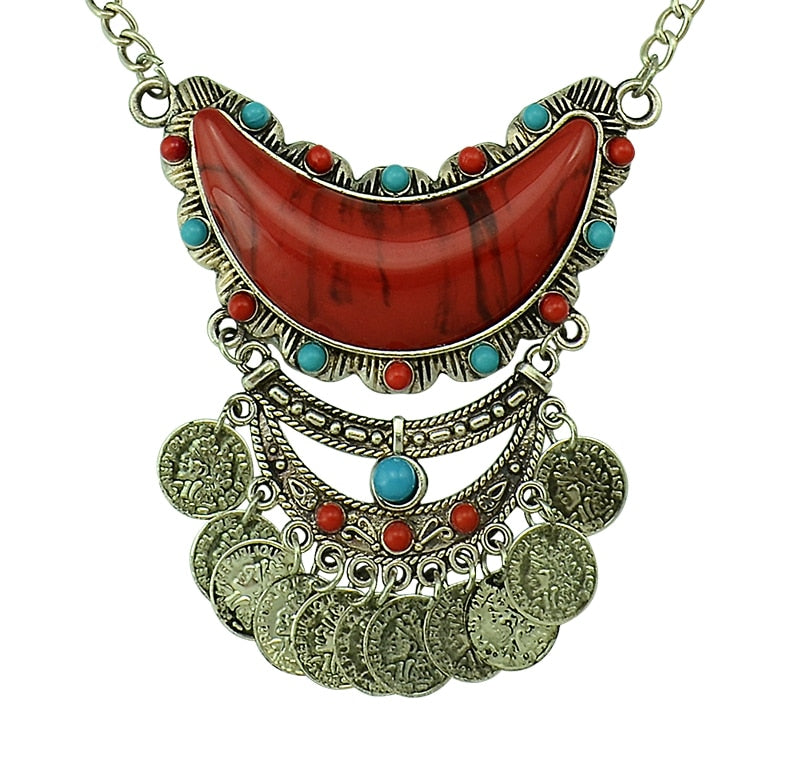 SheGoddess chunky  Bohemian Necklace