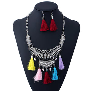Bohemian Royalty Statement Collar Necklace