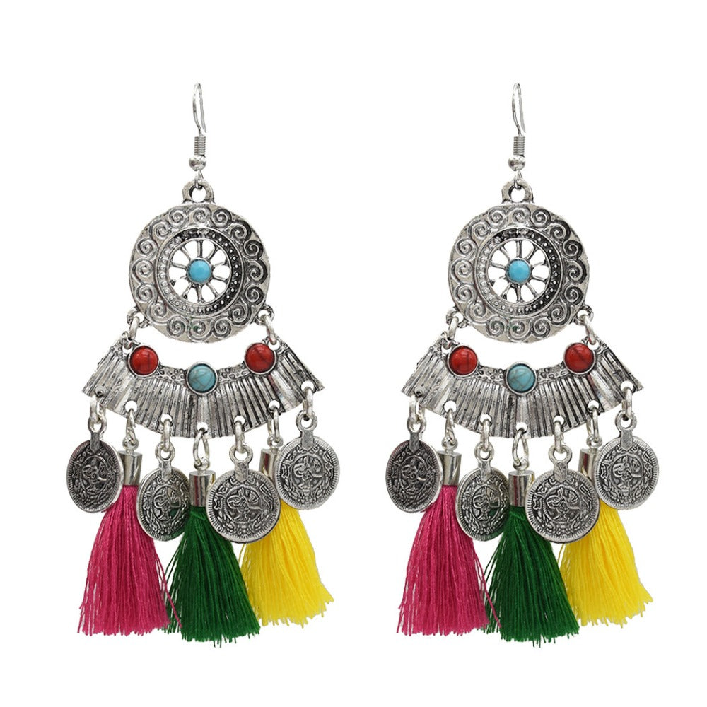 Colorful  Bohemian Ethnic Earrings
