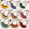 9 Colors Statement Tassel Fringe Bohemian Necklace