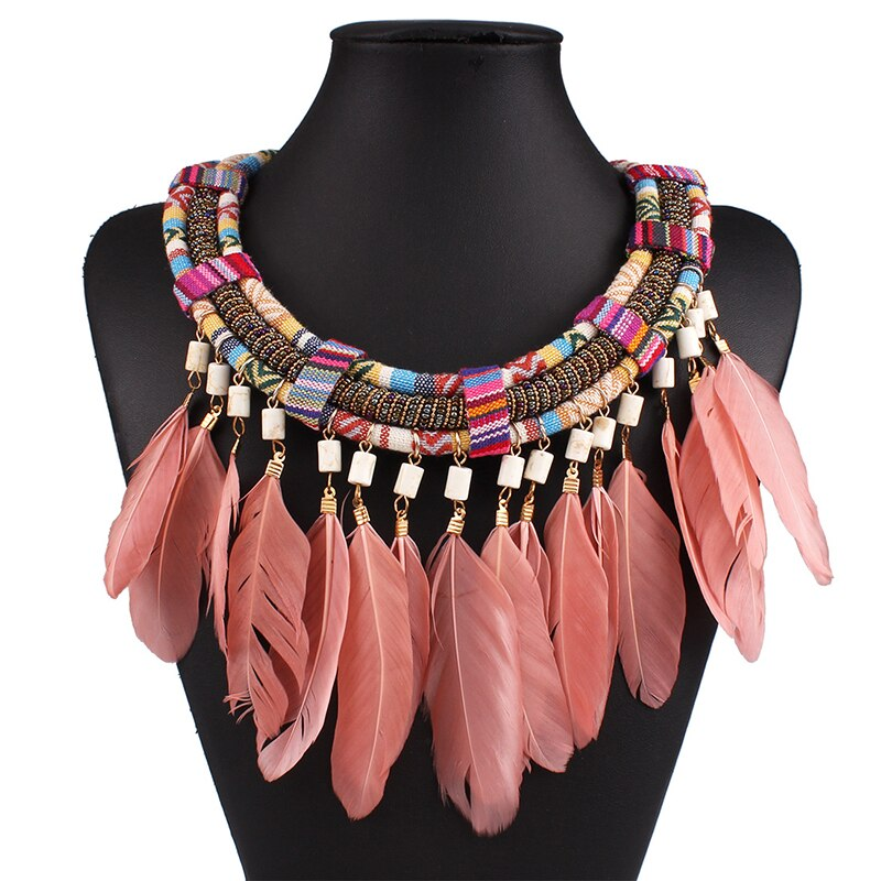 Pink Goddess Bohemian Necklace