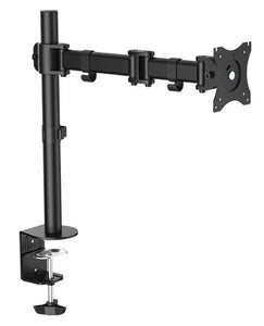 "OMP DESK MOUNT SINGLE ARM 13-27"" MONITOR VESA75-100 MOUNT"