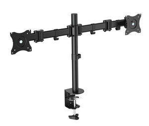 "OMP DESK MOUNT TWIN ARM 13-27"" MONITOR VESA75-100 MOUNT"