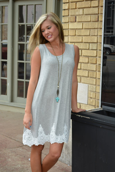 """Feeling Gray"" Dress"