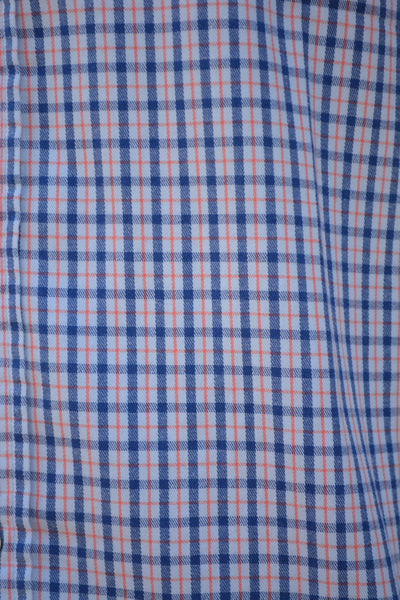 Mobile Bay-Grand Bay Button Down Navy/Coral