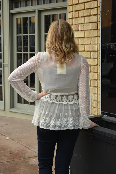 """Wrapped In Lace"" Cardigan"