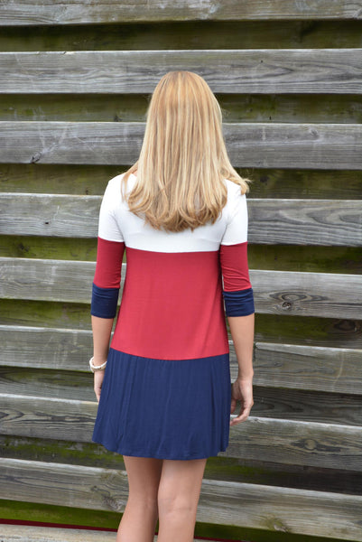 """I'm Moving On"" Tunic-Navy"