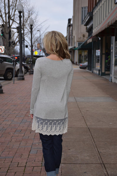 """Overcast Day"" Top"