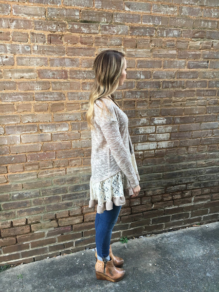 Lace Ruffle Sweater