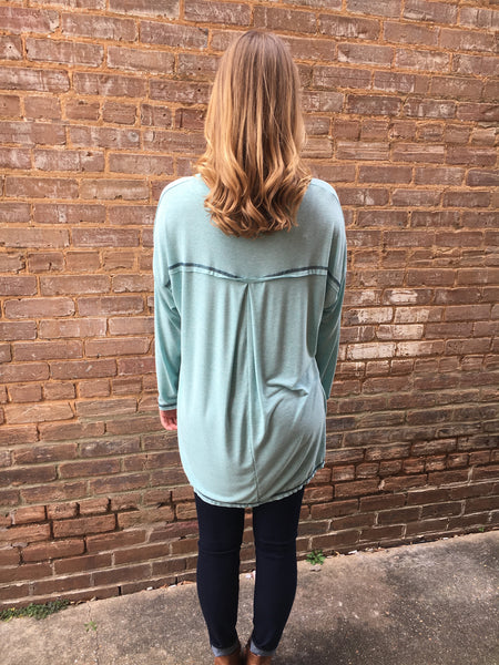 "Hi-Low Knit ""Blue as the Sea"" Tunic"