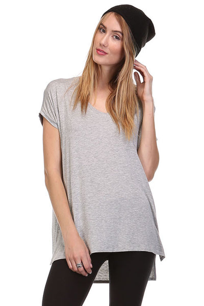 Back to Basic Grey V-Neck Tshirt