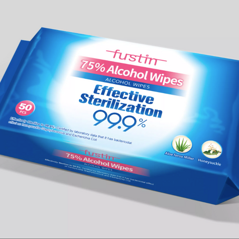 Fustin Alcohol Wipes (MOQ: 1000+ units)