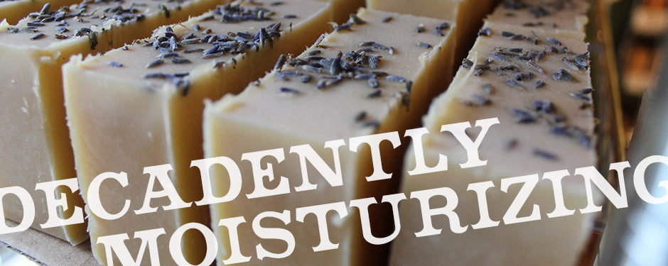 Decadently Moisturizing - Wild Thistle on the curing rack