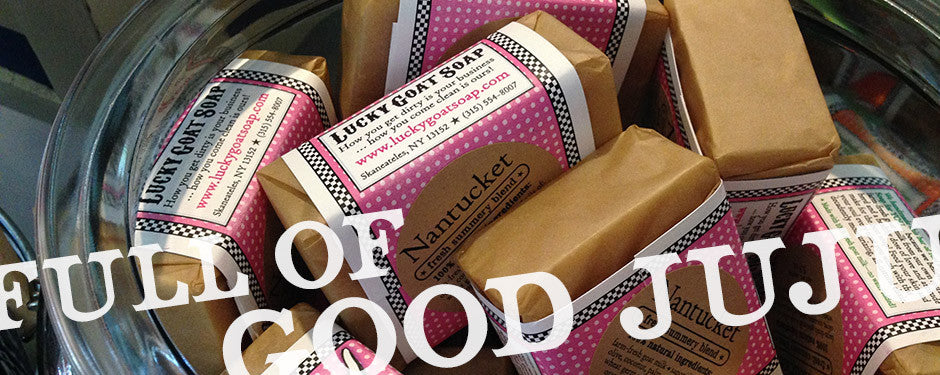 Full of good juju - Nantucket soap in jar