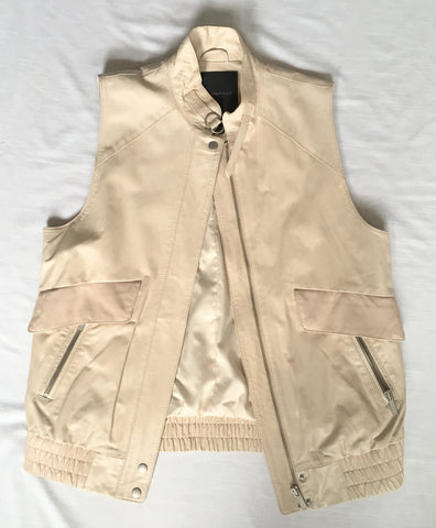 Club Monaco Collection Leather Vest - Size S