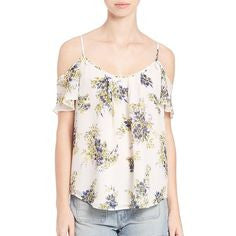 Joie Cold Shoulder Floral Top
