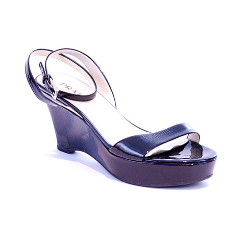 Prada Patent-leather Sandals - Size 38