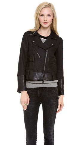 Club Monaco wool & leather bomber - Size 6