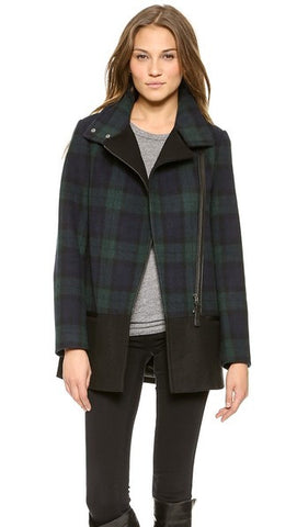 Mackage Berta Plaid Wool Coat - Size S