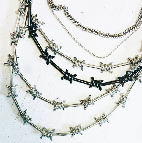 Maison Margiela barbed wire layered necklace