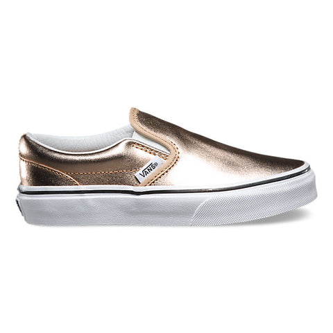 Gold Metallic Slip On Vans