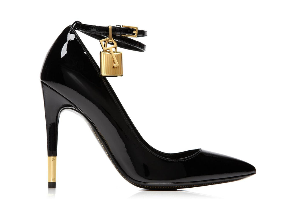 3936af6a264 Tom Ford Ankle Strap Patent Leather Pump w  Lock – eLux
