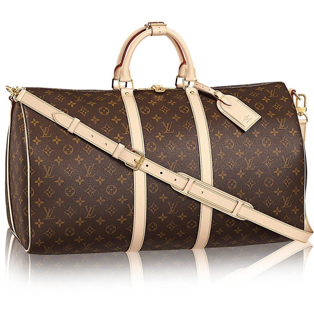 cheaper finest selection top-rated authentic Louis Vuitton Keepall Blandouliere 45 Travel Duffle Bag