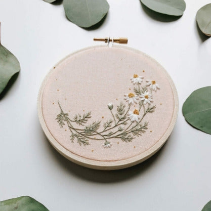 Roman Chamomile Embroidery Kit